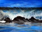 Essence- Blue Wave Seascape Painting