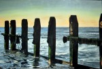 Evening Reflections Seascape Painting