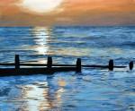 Golden Sunrise Original Seascape Painting