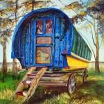 Gypsy Caravan Painting