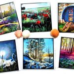 Fine Art Greeting Cards, Folksy Paintings
