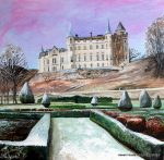 Early Morning at Dunrobin Castle Painting