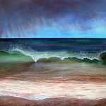 Original Seascape Painting, Not My Storm